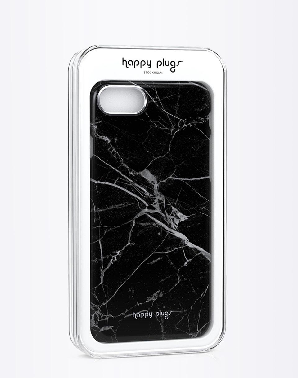 Na telefon Happy Plugs iPhone 7 Slim Case Black Marble