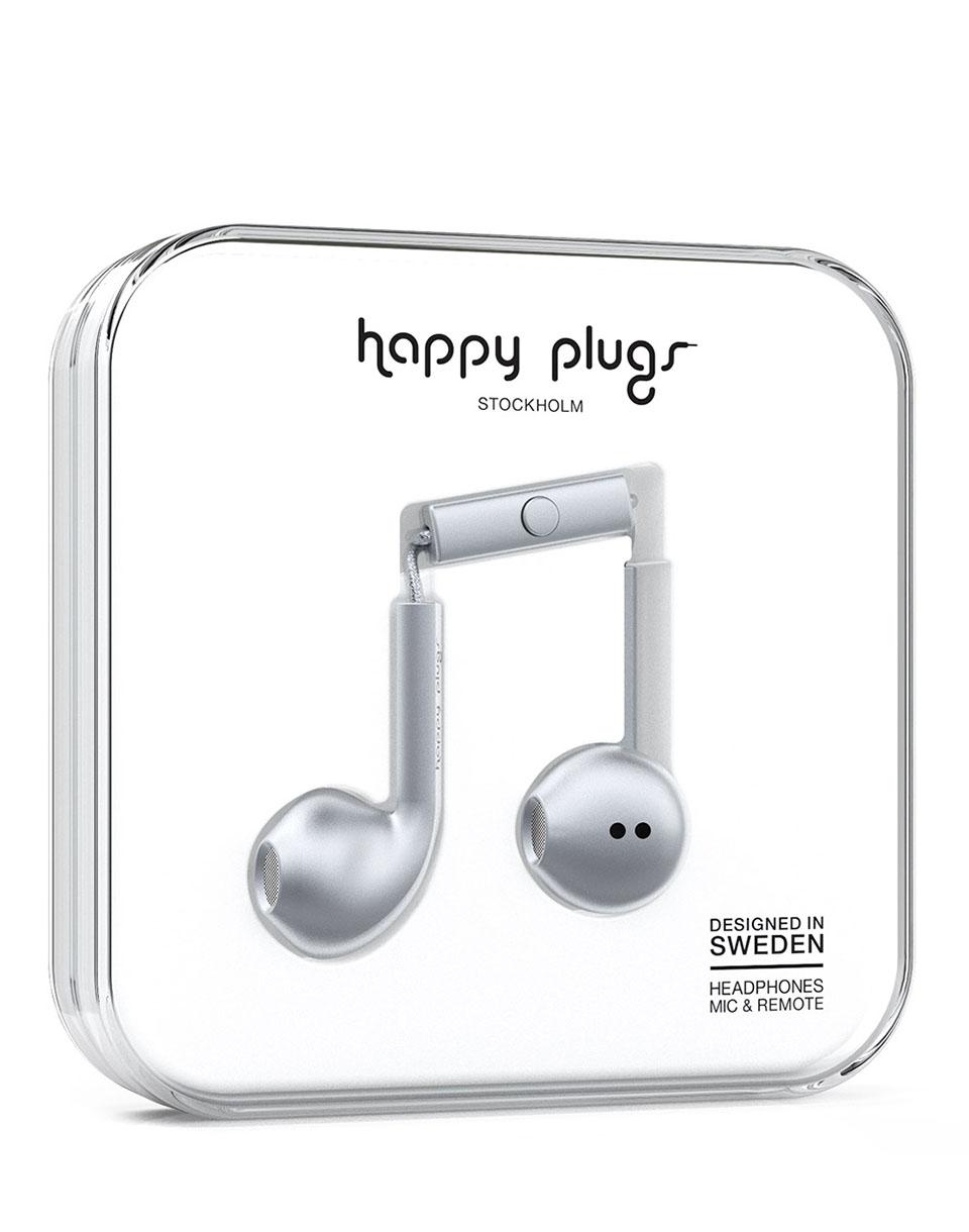 Sluchátka Happy Plugs Earbud Plus Space Grey