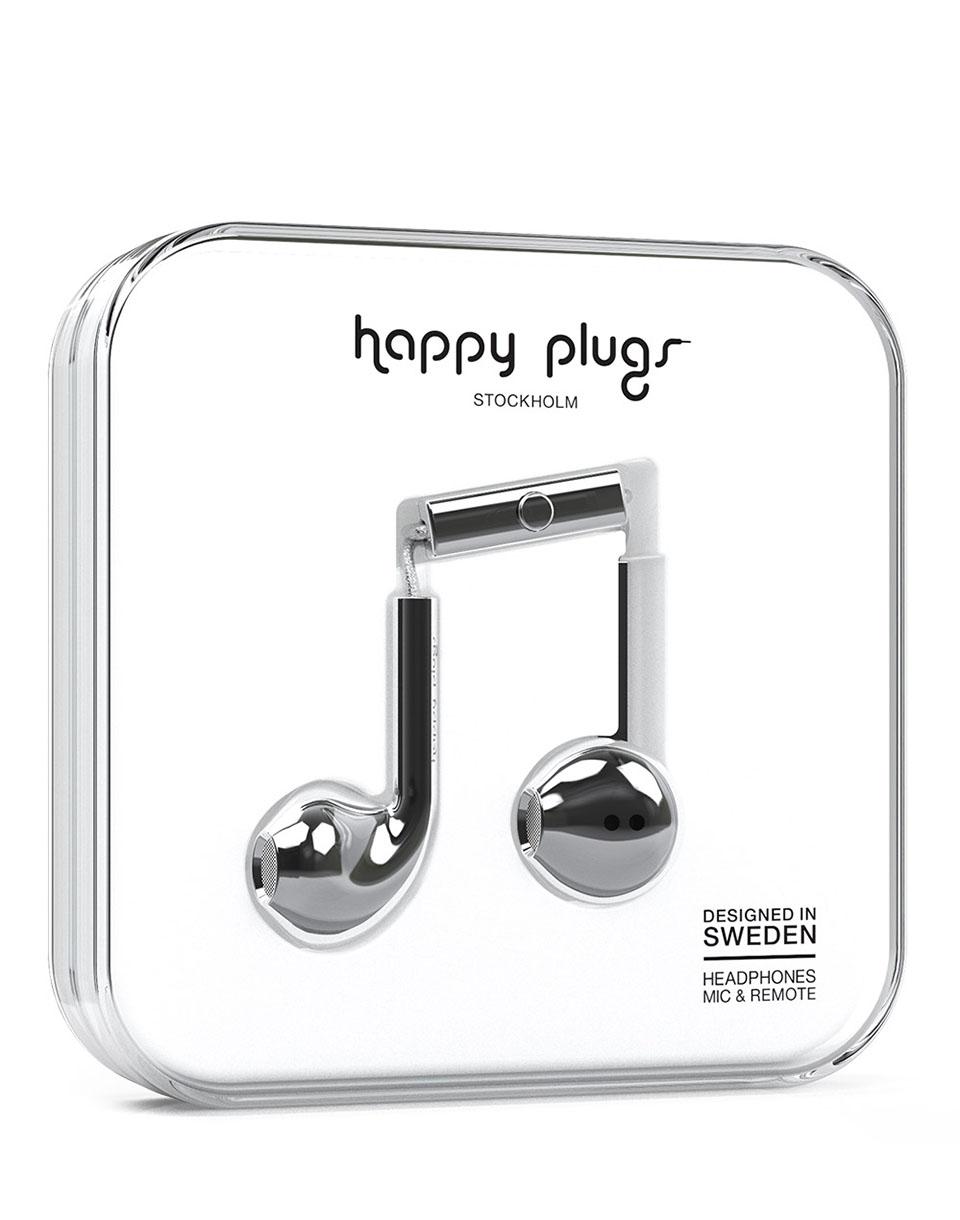 Sluchátka Happy Plugs Earbud Plus silver