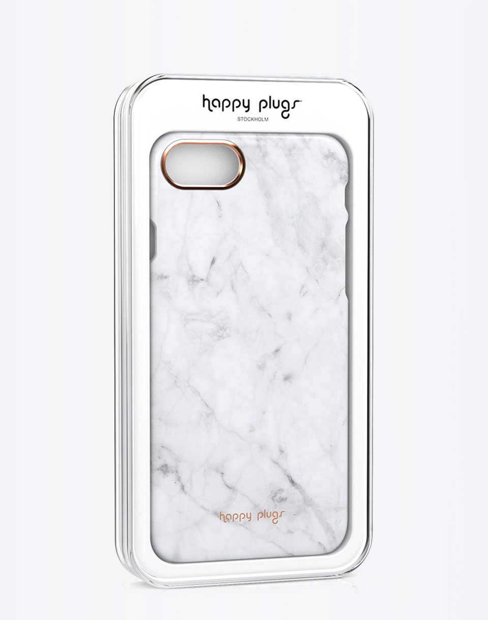 Na telefon Happy Plugs iPhone 7 Slim Case White Marble