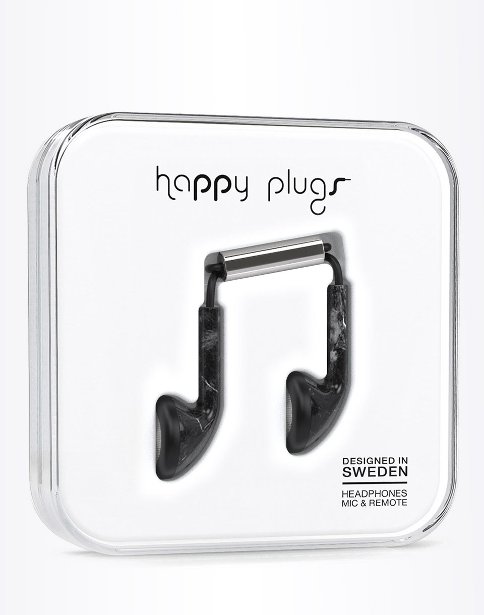 Sluchátka Happy Plugs Earbud Black Marble