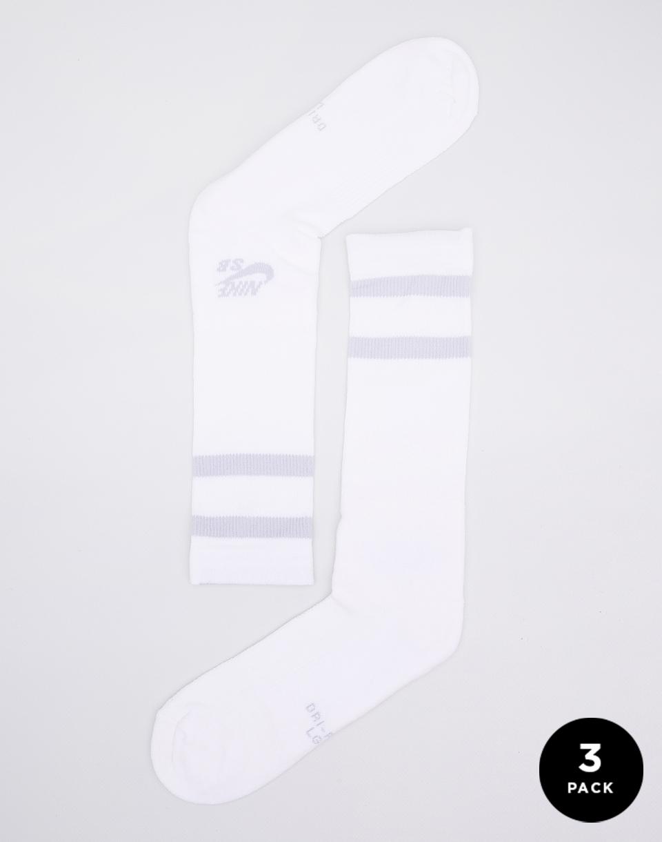 Ponožky Nike SB Crew Skateboarding White/Wolf Grey L