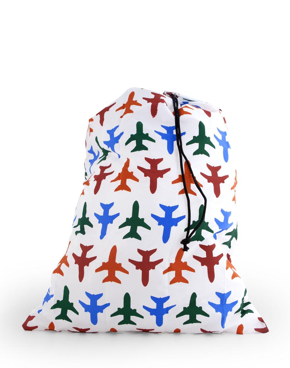 Cestování Kikkerland Travel Laundry Bag Planes Bílá