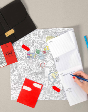OMY - Coloring Pocket Map - My London