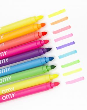 OMY - 9 Neon Felt Pens