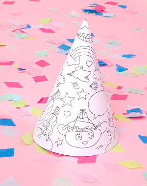 Paper Gift OMY 8 Coloring Party Hats
