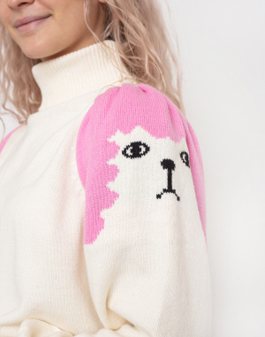 Rolák Lazy Oaf Poodle Puff Sleeve Knitted Jumper