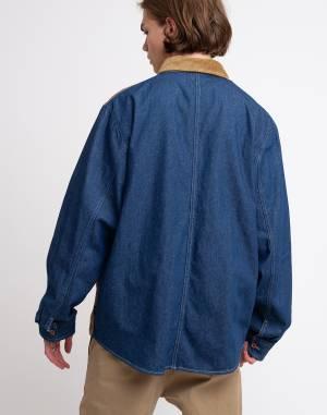 S dlouhým rukávem Stüssy Cord Denim Mix Shirt