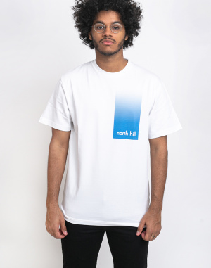 North Hill - White Gradient Tee