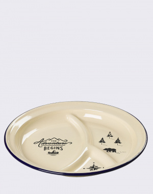 W & W - Enamel Divided Plate