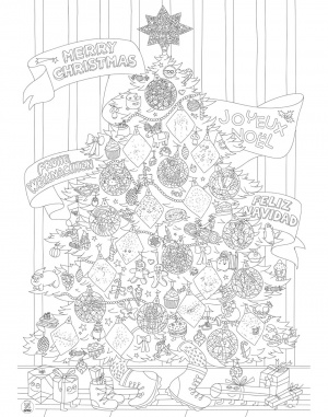 OMY - Coloring Poster - Xmas