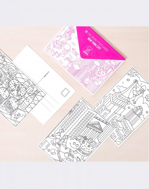 OMY - 16 COLORING POSTCARDS - NY