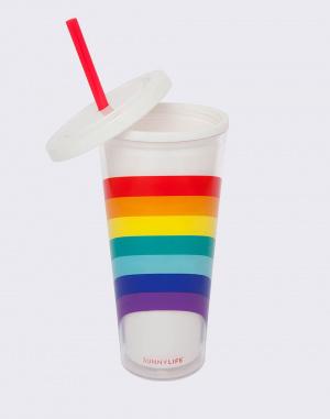 Láhev na pití - Sunnylife - Tumbler Rainbow