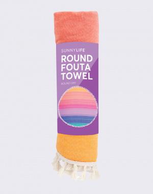Ručník Sunnylife Round Fouta Towel Navagio