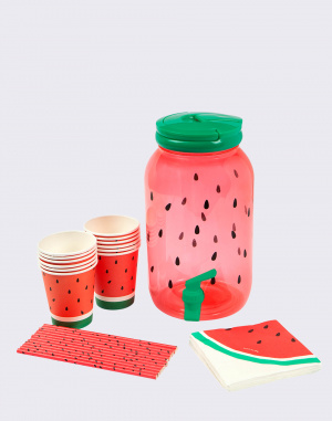 Láhev na pití Sunnylife Drink Dispenser Kit Watermelon