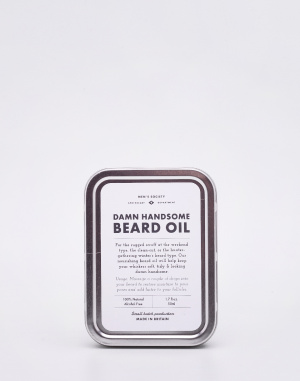 Kosmetika - Men's Society - Damn Handsome Beard Oil and Face Rag