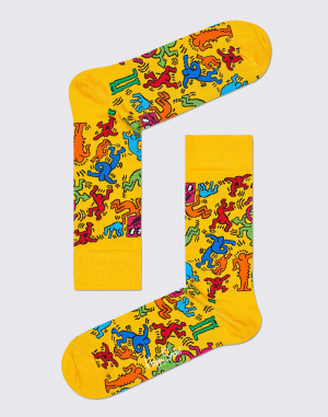 Ponožky - Happy Socks - Keith Haring All Over