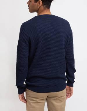 Svetr Knowledge Cotton Field O-neck Sailor Knit