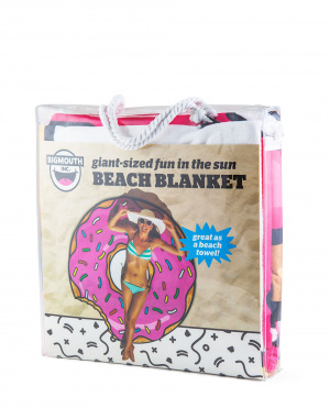 Big Mouth - Beach Blanket Strawberry Donut 1.5m