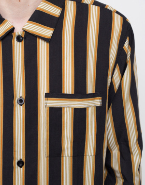 Stüssy - Cove Striped LS Shirt