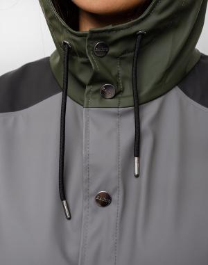 Rains - Color Block Long Jacket