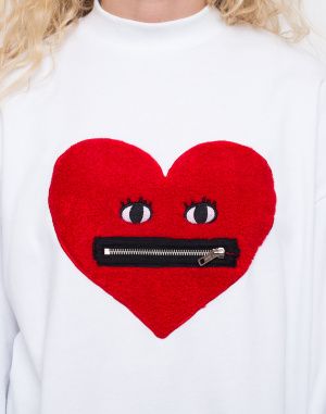 Mikina - Lazy Oaf - Zippy Heart