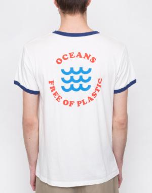 Triko - Thinking MU - Oceans Free Of Plastic Retro T-shirt