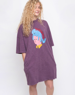 Lazy Oaf - Hairstyles T-shirt Dress
