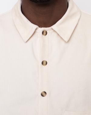 Košile - North Hill - Off-White Corduroy Shirt