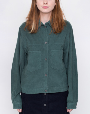 Košile - Thinking MU - GREEN CORDUROY