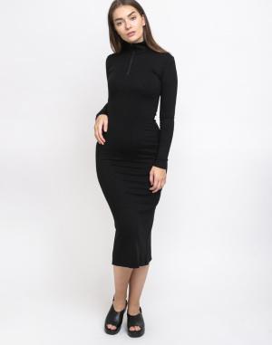 Šaty - Thinking MU - Black Lin Neck Dress