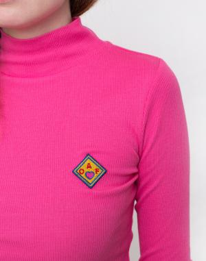 Lazy Oaf - Pink Oaf Roll Neck Top