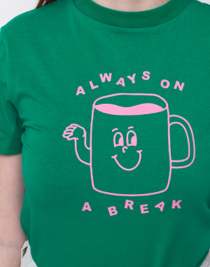 Lazy Oaf - Always On The Break Fitted Tee