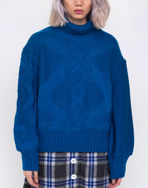 House of Sunny - Turtleneck Cable Knit Jumper