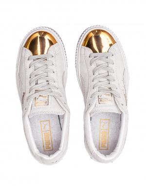 Puma - Suede Platform Gold