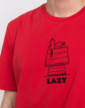 Triko Lazy Oaf Lazy Oaf x Peanuts Red Dog House T-shirt