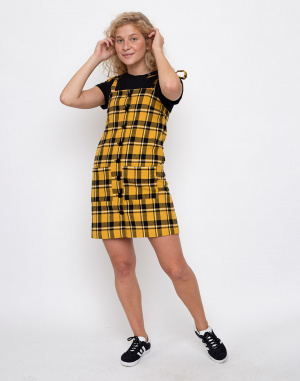 Lazy Oaf - Yellow Check Pinny