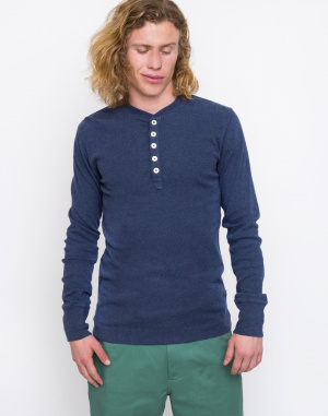 Knowledge Cotton - Rib Knit Henley