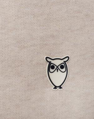 Mikina - Knowledge Cotton - Hood Kangaroo Sweat With Owl Badge