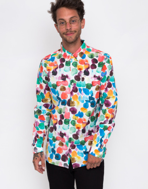 Knowledge Cotton - Larch LS Print Shirt