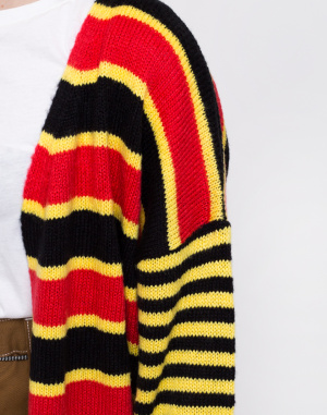 Cardigan - The Ragged Priest - Mixed Stripe Cardigan