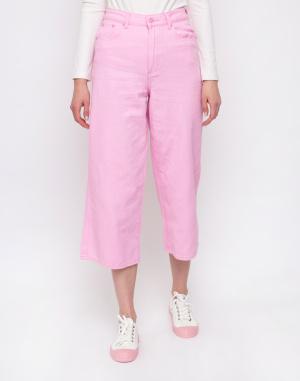 Lazy Oaf - Pink Cropped Wide Leg Jeans