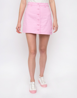 Lazy Oaf - Pink Button-Through Skirt