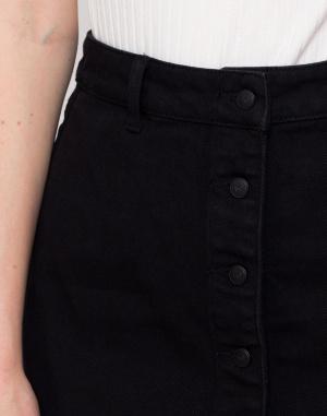 Sukně - Lazy Oaf - Black Button-Through Skirt