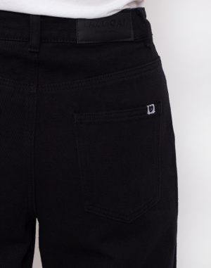 Lazy Oaf - Black Cropped Wide Leg Jeans