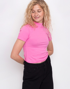Lazy Oaf - Pink Fitted Tee