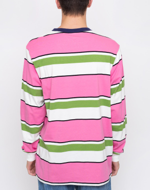 Triko - Lazy Oaf - Pink And Green Stripy