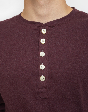 Knowledge Cotton - Rib Knit Henley