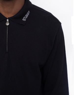 Triko - Stüssy - Lion LS Zip Polo