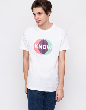 Knowledge Cotton - T-shirt With Know Print